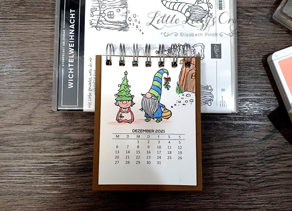Wichtelweihnacht Stampin' Up! Tischkalender Cinch