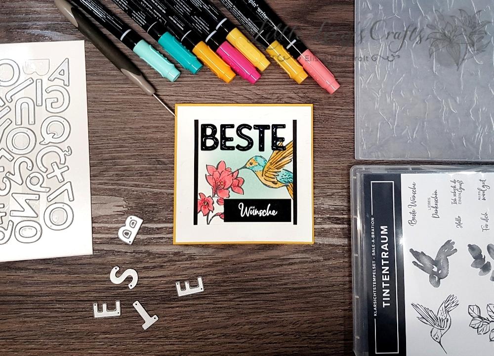 Tintentraum Antikes Papier Buchstabenmix Sale-A-Braion Stampin' Up!