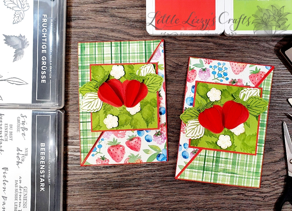 Funfold Dreieckskarte Beerenstark Sommerbeeren Fruchtige Grüße Stampin' Up!
