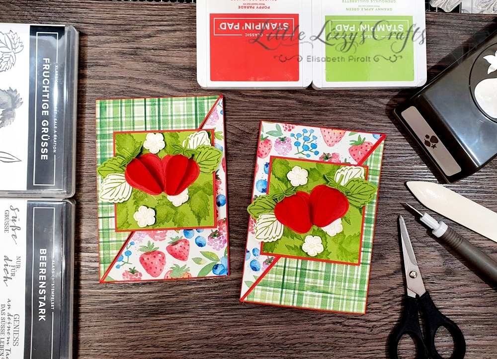 Sale-A-Bration 3D Erdbeere Besonderes Kartenformat Stampin' Up!