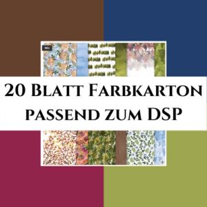 20 Blatt Farbkarton passend zum DSP Schöne Natur