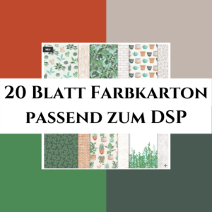 20 Blatt Farbkarton passend zum DSP Pflanzenecke