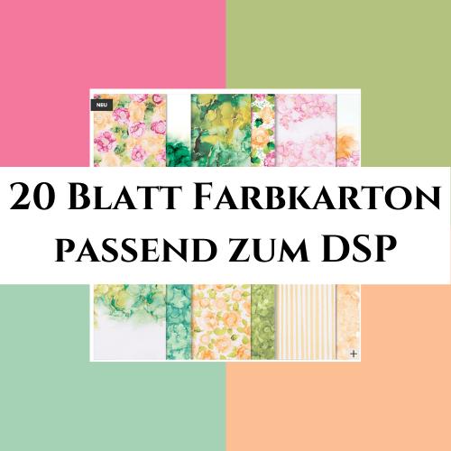 20 Blatt Farbkarton passend zum DSP Tintenkunst