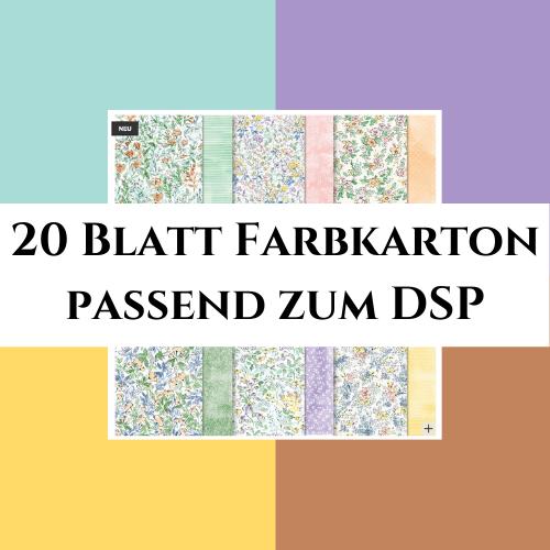 20 Blatt Farbkarton passend zum DSP Von Hand Gemalt