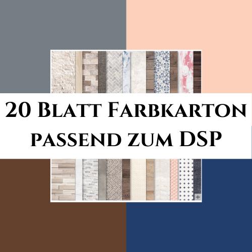 20 Blatt Farbkarton passend zum DSP Ganz Mein Geschmack
