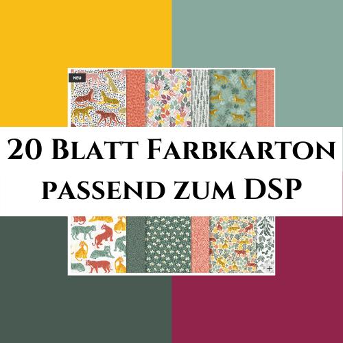 20 Blatt Farbkarton passend zum DSP In Der Wildnis