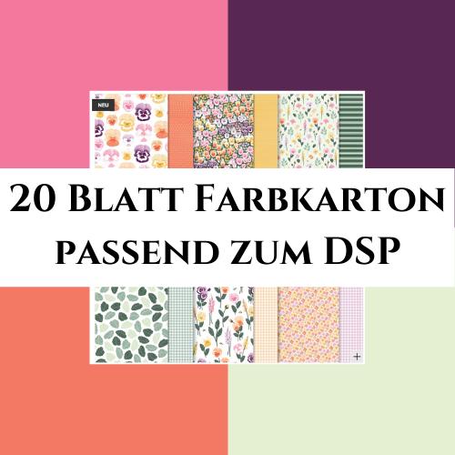 20 Blatt Farbkarton passend zum DSP Stiefmütterchen