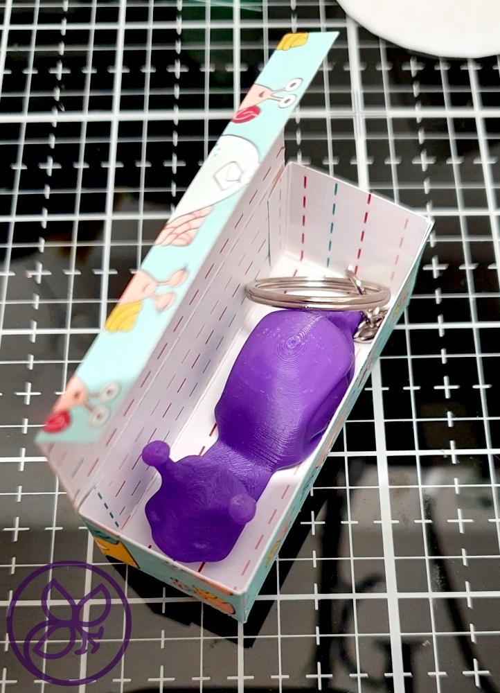 Verpackung Schlüsselanhänger 3D Druck Schneckenpost Stampin' Up!
