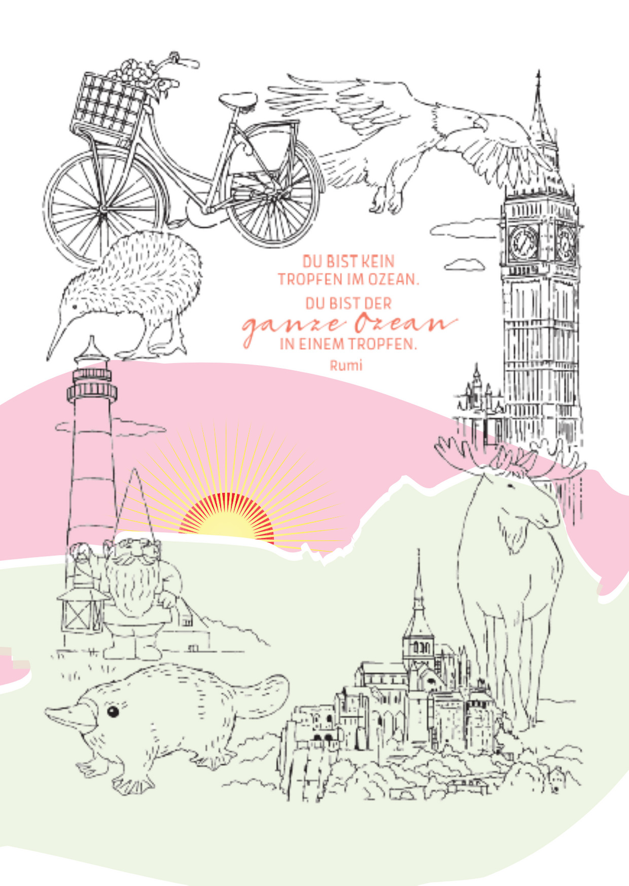 Postkarte Kreativ vereint 01