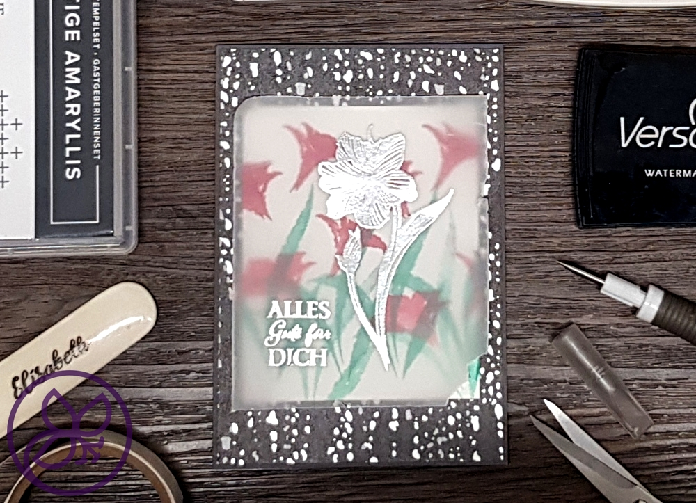 Amaryllis Abloom Peaceful Place DSP Vellum Embossing Stampin' Up!
